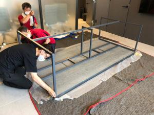 オリジナルオフィス家具の製作 現場搬入から組み立てそして製品検査