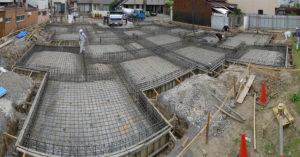 進行中プロジェクト 基礎型枠工事から配筋検査、そしてコンクリート打設