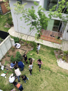 庭のあるシェアハウス 畑ワークショップ 夏野菜 開催!!