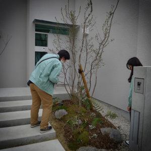 名古屋市民有地緑化助成事業 みどりの補助金の完了検査に立ち会いました